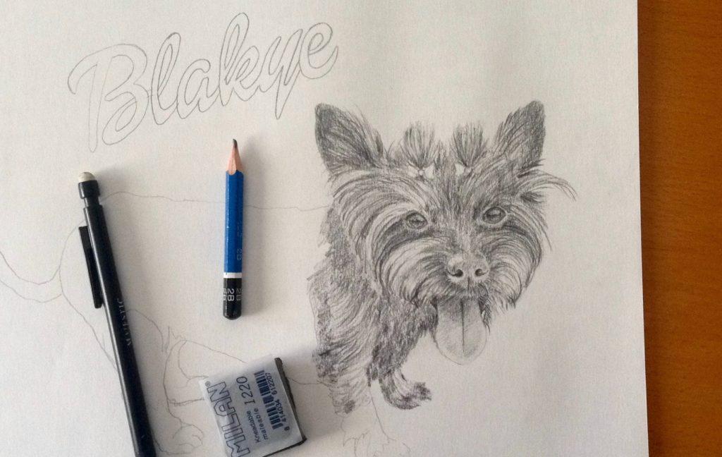 """Dog portrait """"Blackye"""""""