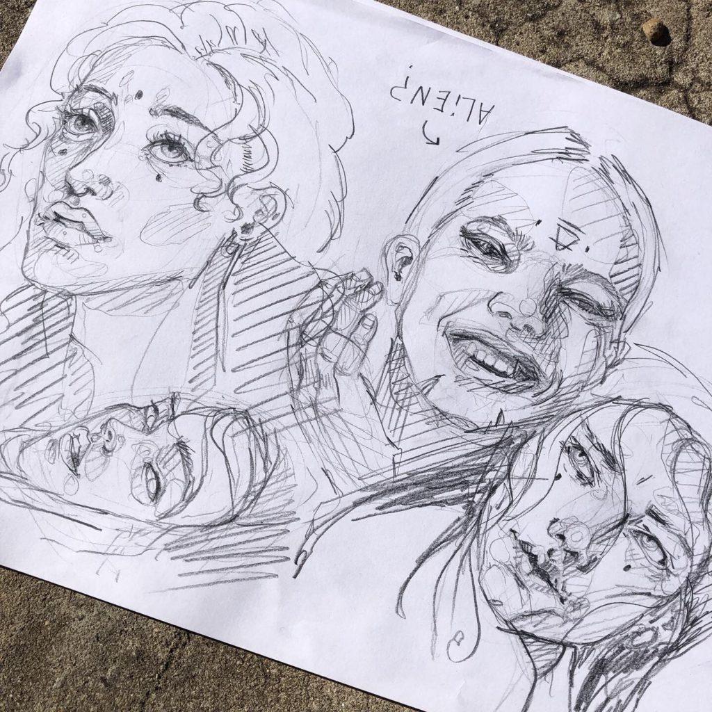 Faces sketch