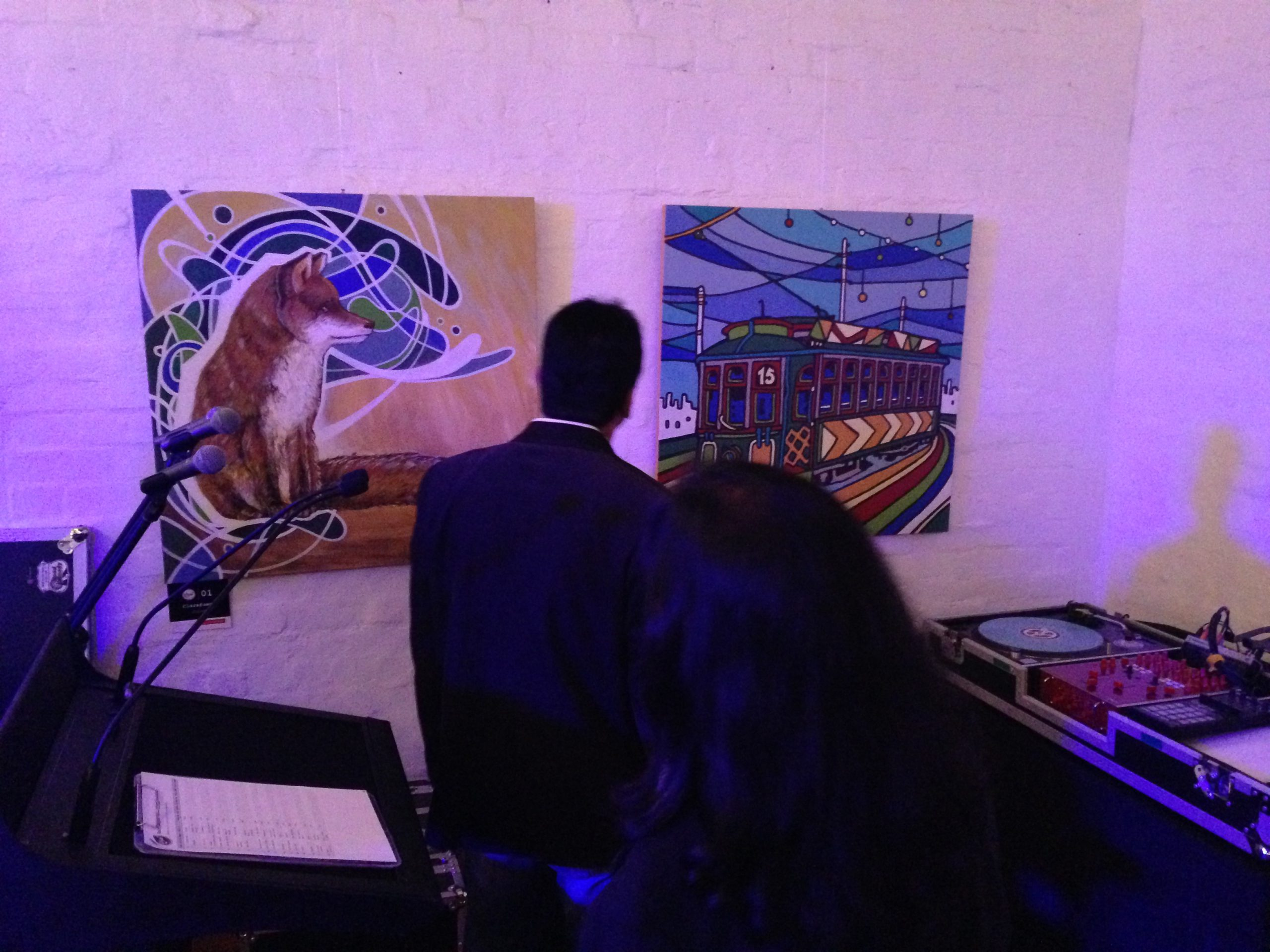 take a seat exhibition art event perth, clarafosca painting fox